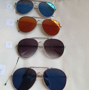 Accessories - 2018 ThicK FRAME MIRROR AVIATOR WOMAN SUNGLASSES